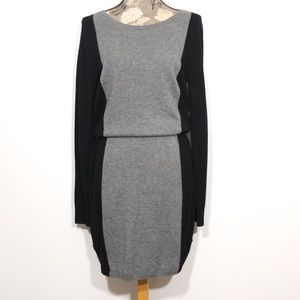 NWT LOFT Sweater Dress Sz M Wool Color Block